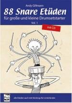 88 Snare Etüden für große und kleine Drumsetstarter. Vol. 1 m